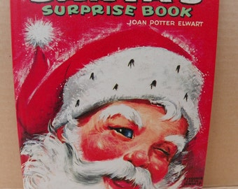 Santa's Surprise Book - 1966 Whitman Publishing Big Tell-a-Tale Book #2448 First Edition , Vintage Children's Santa Christmas Story Book