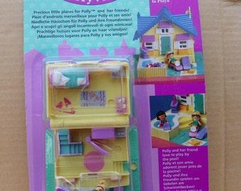 Vintage Rare Unopened New Polly Pocket Summer House - Pollyville  , 1994 Bluebird Toys Mattel Polly Pocket #11201 NRFB , Polly Pocket Dolls