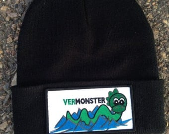 Vermonster beanie, fun winter Vermont gift for adults and kids