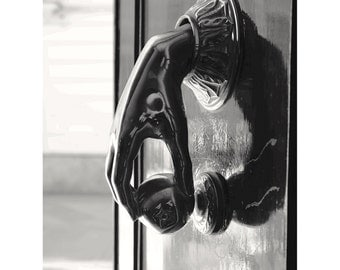 Fine Art Print Door Knocker, Spain Photography, Spanish Art, Black & White Wall Art, Doorknocker, Gifts, Cadiz, 20x30 - The Door Knocker