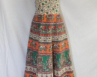 Indian maxi dress cotton maxi dress cotton boho long maxi dress elephant bohemian maxi dress Indian gown  block print maxi dress long dress