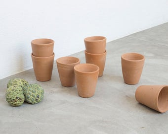 Raw Clay Water Cups