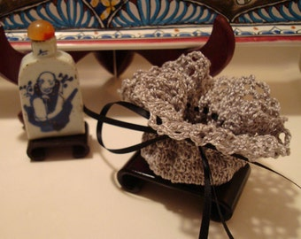 Potpourri and Sachet!  Ruffle Top Handmade Crochet Sachet from a Vintage Pattern!