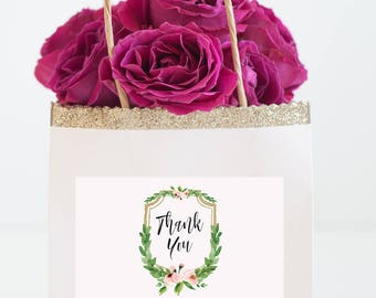Thank you Bags labels - Personalized Wedding Favor Bag Labels