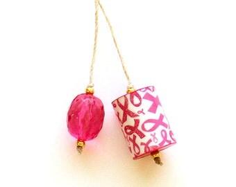 Pink Ribbon, Bookmark, Awareness, Breast Cancer, TN Bookmark, Midori Accessories, Book Accessories, Book Lover Gift, Handmade Bookmark