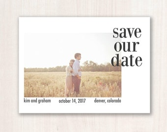 Modern Save the Date -- Custom Save the Date Design, Print or Download