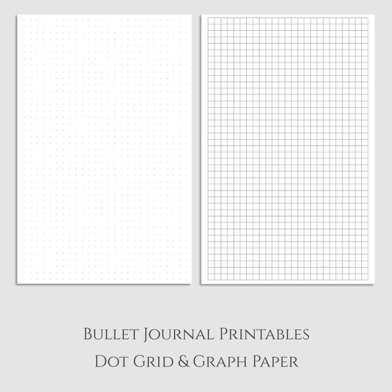 Fabulous image regarding bullet journal dot grid printable