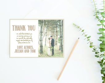 Wedding Thank You Card thank you with photo card thank you custom note thank you note printable thank you printable photo card