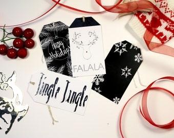 Holiday Gift Tags- Set of 12- Jingle Jangle