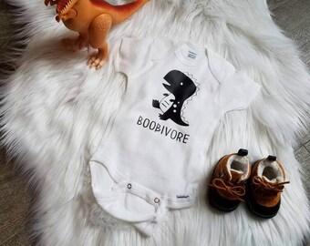 Boobivore Breastfeeding breastfed baby onesie