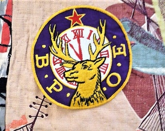 B.P.O.E. -- Old Benevolent + Protective Order of Elks Souvenir Jacket Patch