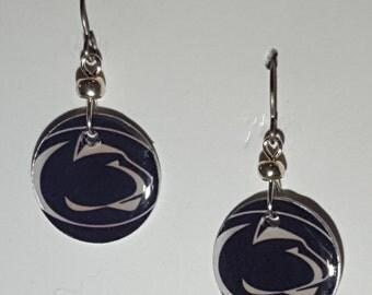 Penn State Nittany Lions jewelry, Penn State Nittany Lions earrings, Penn State Nittany Lions, school spirit jewelry