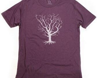 Ninus - Winter Tree, Hand-printed Bamboo Men's T-Shirt