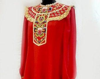 Theatre costume, Dance costume, Tsarevna dress, Theatrical suit, Performance costume, Scene costume, Choir costume, chorus dress