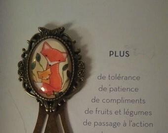 "Bookmark vintage ""Fox"""