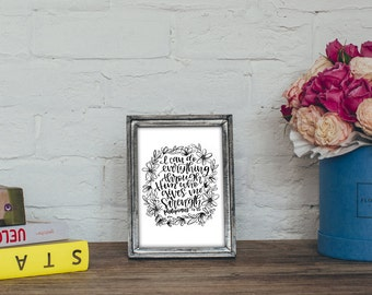Philippians 4:13 - I can do everything through Him who gives me strength. - Bible Verse Printable