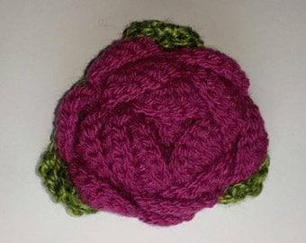 Statement Crochet Rose Brooch