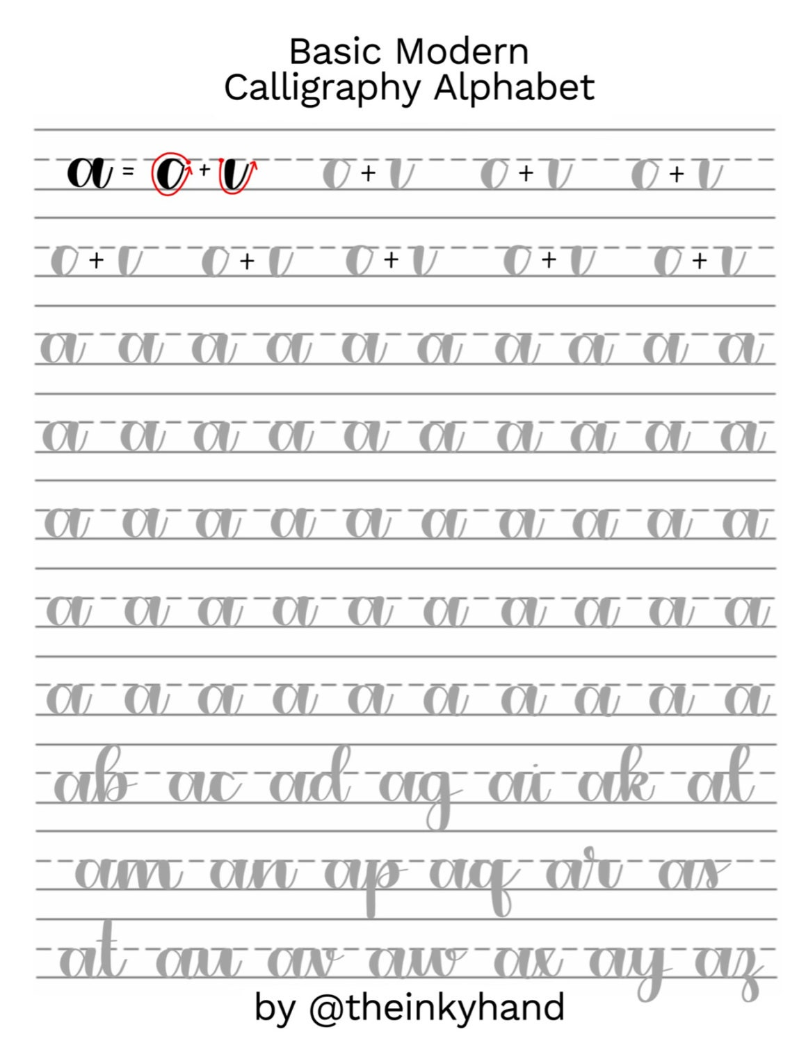 Fancy calligraphy alphabet sheet imgkid the