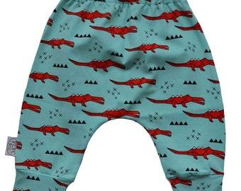 Harem crocodile baby pants, baby pants, unisex baby pants