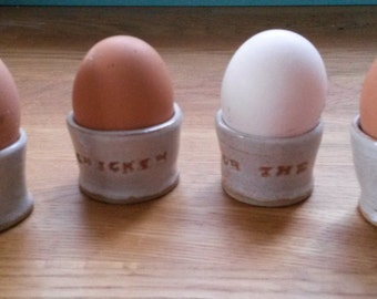 The Chicken Or The Egg egg cups
