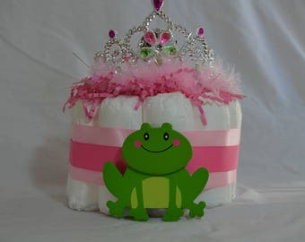 Princess and frog diaper cake (1 Tier)