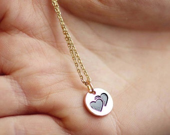 Gift for her | Romantic Gift Wife | Birthday Gift | Tiny Heart Necklace | Sister Gift | Friendship Gift | Gift for Mom | Heart Necklace