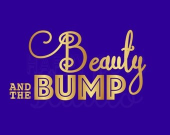 Beauty and the Bump Beast Disney Iron On Decal Pregnancy Maternity Mom to be Announcement Mom to Be Disney World Vacation for Shirt 096