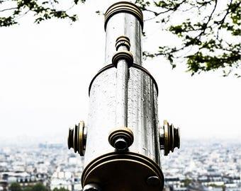 Télescope Skyline Photo - Paris Photography - Wall Art Print - Paris Decor - Architecture - Fine Art Photography  - Télescope - 0019