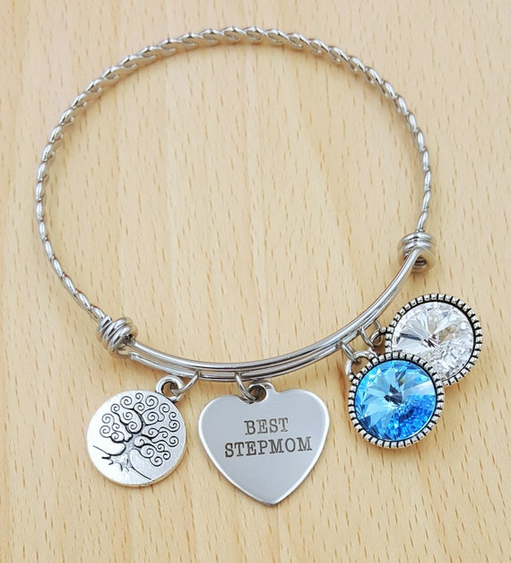 Step Mom Bracelet with Birthstones Birthstone Bracelet StepMom Gift Bracelet for Step Mom Gift for Step Mom Gifts for StepMom