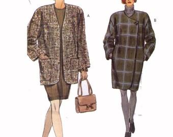 SALE Uncut Vogue 8451, 90s Sewing Pattern, Misses' Petite Jacket and Coat, Size 12-14-16.