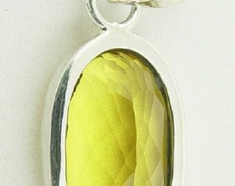 Pure Citrine Pendant set in Silver CP-05