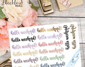 Weekend Banners for Personal Planners - Patterned [DR0014]
