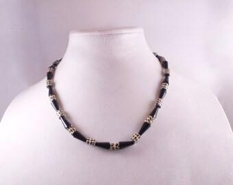 Black Leopard Necklace & Earrings
