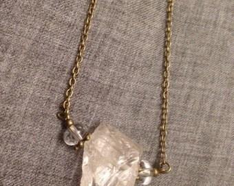 Necklace * Crystal goddess *, baroque rock crystal, brilliance
