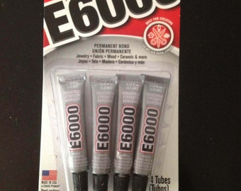 E6000 4 Pack Un-Opened Glue / Adheshsive