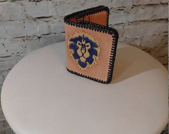World of Warcraft Inspired hand tooled wallet - Ready To Ship