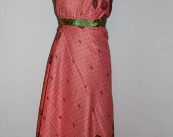 Magic Wrap Skirt, Vintage Sari Silk Skirt, Reversible Skirt, Ethnic Skirt, Wrap Dress, Sundress, Two Layer Wrap Skirt, Long Skirt, Skirt