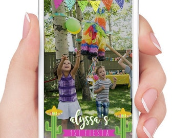 Fiesta Geofilter First Birthday Customizable