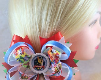 birthday Paw Patrol hair bows Paw Patrol hair clip Boutique bows Skye party favor kids Headband baby bows Gift for girl Paw Patrol bow