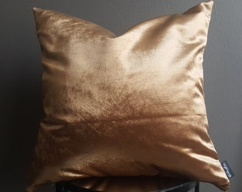 Gold Velvet Decorative Pillow Cover- Throw Pillow cover