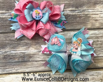 cinderella inspired hairbow