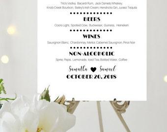 Wedding drinks sign – Etsy
