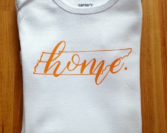 Home State Bodysuit. Baby Girl Clothing. Customized State Baby Outfit. Shower Gift. Toddler Tee.