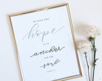 Hope as an Anchor Digital Download