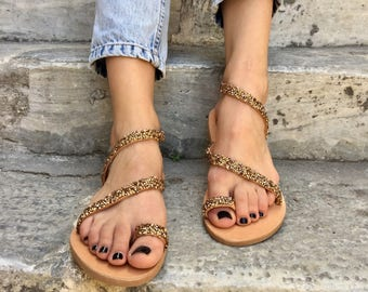 Gladiator Leather Sandals, Greek Sandals, Wedding Sandals, Made in Greece From 100% Genuine Leather by Christina Christina Jewels.