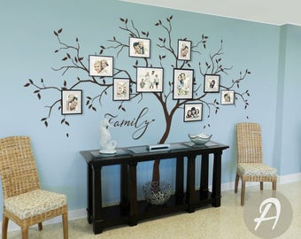 Large Family Tree Wall Decals Trees Decal Nursery Tree Wall Decals, Tree  mural, Vinyl Wall Decal AM039