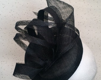 Black Fascinator Hatinator Headpiece Wedding Fascinator
