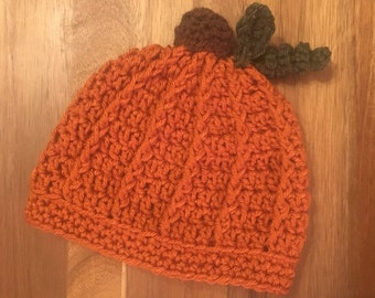 Crochet Pumpkin Baby Beanie