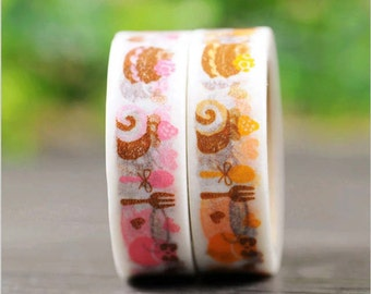 washi tape in rice paper with sweets