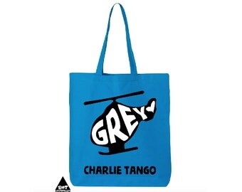 Grey Charlie Tango Fifty Shades Of Grey Cotton Canvas Tote